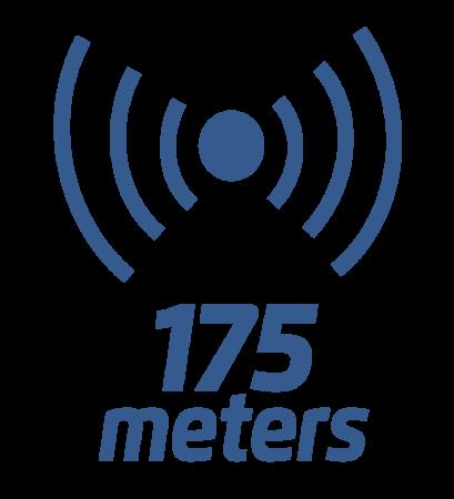 175 metrów zasięgu